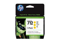 Мастила и глави за широкоформатни принтери » Мастило HP 712 3-pack, Yellow (3x29 ml)
