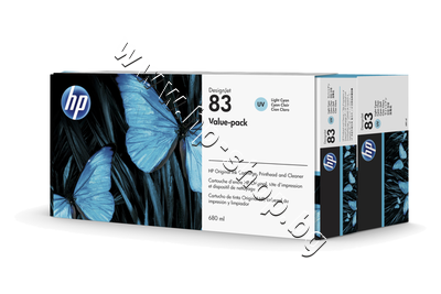 C5004A Комплект HP 83, Light Cyan (680 ml)