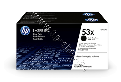 Q7553XD Тонер HP 53X за P2014/P2015/M2727 2-pack (2x7K)
