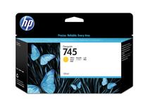 Мастила и глави за широкоформатни принтери » HP Мастило No.745, Yellow 130 ml
