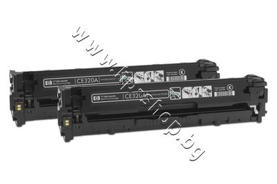 CE320AD Тонер HP 128A за CM1415/CP1525 2-pack, Black (2x2K)
