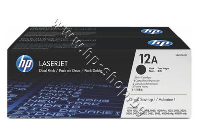 Q2612AD Тонер HP 12A за 1010/1020/3000 2-pack (2x2K)