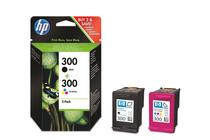 Мастила и глави за мастиленоструйни принтери » Касета HP 300 combo 2-pack, 4 цвята