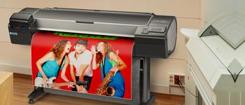 Широкоформатни<br>принтери и плотери