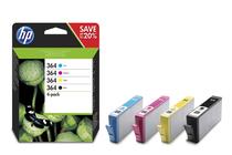 Мастила и глави за мастиленоструйни принтери » Мастило HP 364 combo 4-pack, 4 цвята