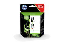Мастила и глави за мастиленоструйни принтери » Касета HP 62 combo 2-pack, 4 цвята