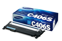 Тонер касети и тонери за цветни лазерни принтери Samsung » Тонер Samsung CLT-C406S за SL-C410/C460, Cyan (1K)