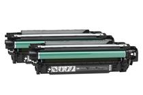 Тонер касети и тонери за цветни лазерни принтери » Тонер HP 504X за CP3525/CM3530 2-pack, Black (2x10.5K)