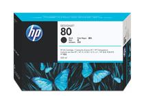 Мастила и глави за широкоформатни принтери » Мастило HP 80, Black (350 ml)