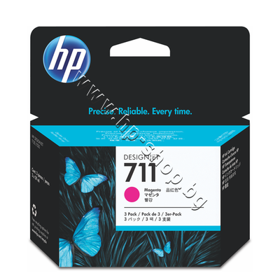 CZ135A Мастило HP 711 3-pack, Magenta (3x29 ml)