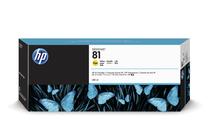 Мастила и глави за широкоформатни принтери » Мастило HP 81, Yellow (680 ml)