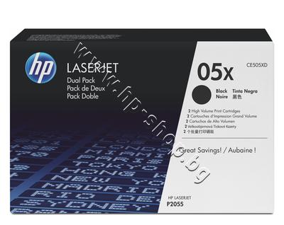 CE505XD Тонер HP 05X за P2055 2-pack