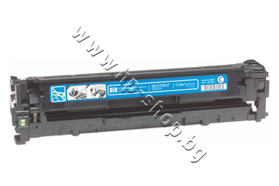 CB541A Тонер HP 125A за CP1215/CM1312, Cyan (1.4K)