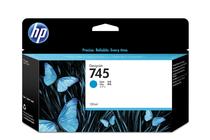 Мастила и глави за широкоформатни принтери » HP Мастило No.745, Cyan 130 ml