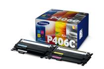 Тонер касети и тонери за цветни лазерни принтери Samsung » Тонер Samsung CLT-P406C за SL-C410/C460 4-pack, 4 цвята (4.5K)