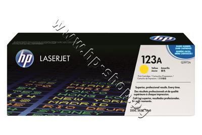 Q3972A Тонер HP 123A за 2550/2800, Yellow (2K)