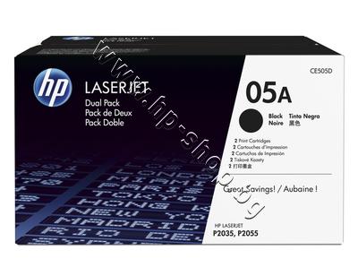 CE505D Тонер HP 05A за P2035/P2055 2-pack (2x2.3K)
