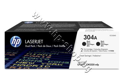 CC530AD Тонер HP 304A за CP2025/CM2320 2-pack, Black (2x3.5K)