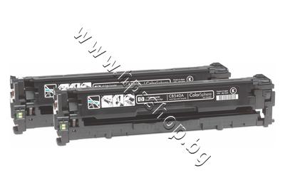 CB540AD Тонер HP 125A за CP1215/CM1312 2-pack, Black (2x2.2K)