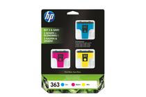 Мастила и глави за мастиленоструйни принтери » Мастило HP 363 combo 3-pack, 3 цвята