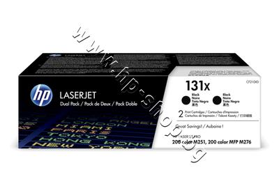 CF210XD Тонер HP 131X за M251/M276 2-pack, Black (2x2.4K)