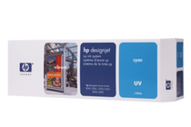 Мастила и глави за широкоформатни принтери » HP Комплект за DJ CP UV, Cyan