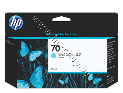 C9390A Мастило HP 70, Light Cyan (130 ml)