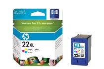 Мастила и глави за мастиленоструйни принтери » Касета HP 22XL, Tri-color
