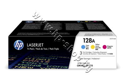 CF371AM Тонер HP 128A за CM1415/CP1525 3-pack, 3 цвята (3x1.3K)