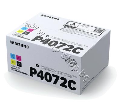 SU382A Тонер Samsung CLT-P4072C за CLP-320/CLX-3180 4-pack, 4 цвята (4.5K)