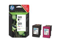 Мастила и глави за мастиленоструйни принтери » Касета HP 301 combo 2-pack, 4 цвята