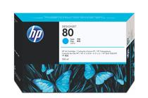 Мастила и глави за широкоформатни принтери » Мастило HP 80, Cyan (350 ml)