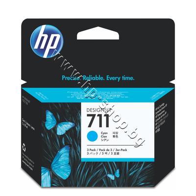 CZ134A Мастило HP 711 3-pack, Cyan (3x29 ml)