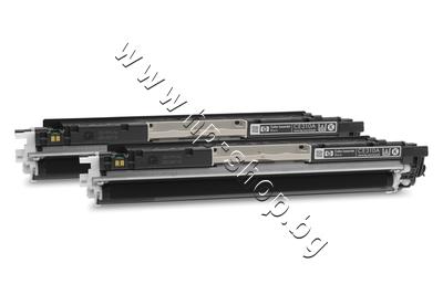 CE310AD Тонер HP 126A за CP1025/M175/M275 2-pack, Black (2x1.2K)