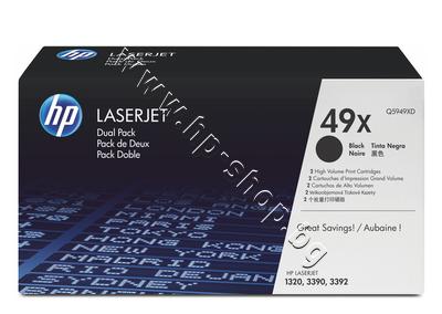 Q5949XD Тонер HP 49X за 1320/3390 2-pack (2x6K)