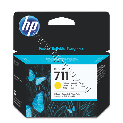 CZ136A Мастило HP 711 3-pack, Yellow (3x29 ml)