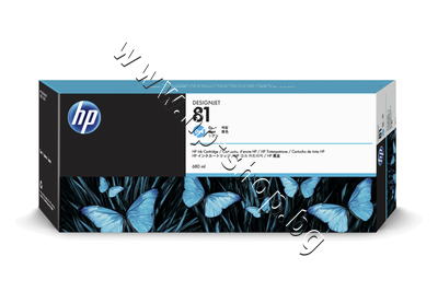 C4931A Мастило HP 81, Cyan (680 ml)