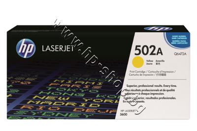 Q6472A Тонер HP 502A за 3600, Yellow (4K)