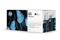Мастила и глави за широкоформатни принтери » Комплект HP 83, Black (680 ml)