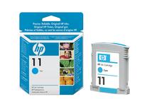 Мастила и глави за широкоформатни принтери » Мастило HP 11, Cyan (28 ml)
