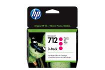 Мастила и глави за широкоформатни принтери » Мастило HP 712 3-pack, Magenta (3x29 ml)