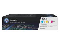 Тонер касети и тонери за цветни лазерни принтери » Тонер HP 126A за CP1025/M175/M275 3-pack, 3 цвята (3x1K)