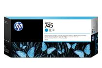 Мастила и глави за широкоформатни принтери » HP Мастило No.745, Cyan 300 ml