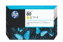 Мастила и глави за широкоформатни принтери » Мастило HP 80, Yellow (350 ml)