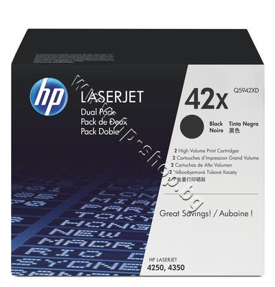 Q5942XD Тонер HP 42X за 4250/4350 2-pack (2x20K)