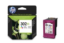 Мастила и глави за мастиленоструйни принтери » Касета HP 302XL, Tri-color