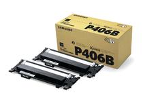 Тонер касети и тонери за цветни лазерни принтери Samsung » Тонер Samsung CLT-P406B за SL-C410/C460 2-pack, Black (2x1.5K)