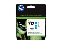 Мастила и глави за широкоформатни принтери » Мастило HP 712 3-pack, Cyan (3x29 ml)